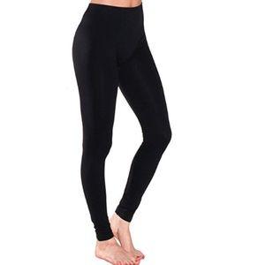 Sofra Black Stretch Leggings Free Size